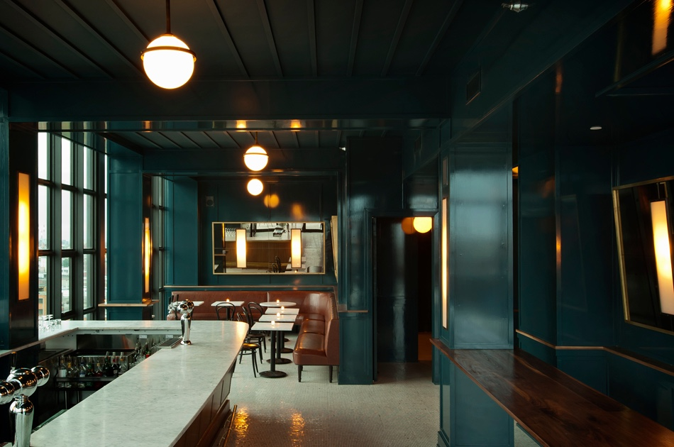 The Blue Room at The Ides Rooftop. Image courtesy of 1stdibs.