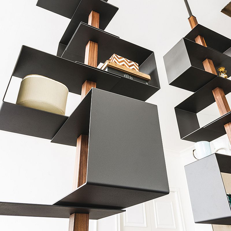 Tokyo bookshelf in metal is perfect for the contemporary-minimal interior