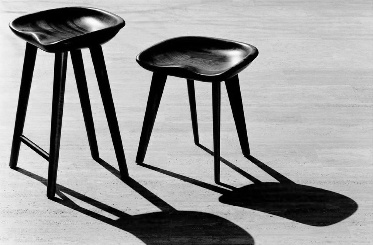 Designed in 2001, the BassamFellows Tractor Stools are an icon of contemporary design. Photo by Dan Tobin Smith courtesy of BassamFellows.