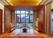 Traditional kawung pattern adds charm to the bedroom of modern home in Jakarta