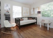 Transitional home office with daybed in the corner