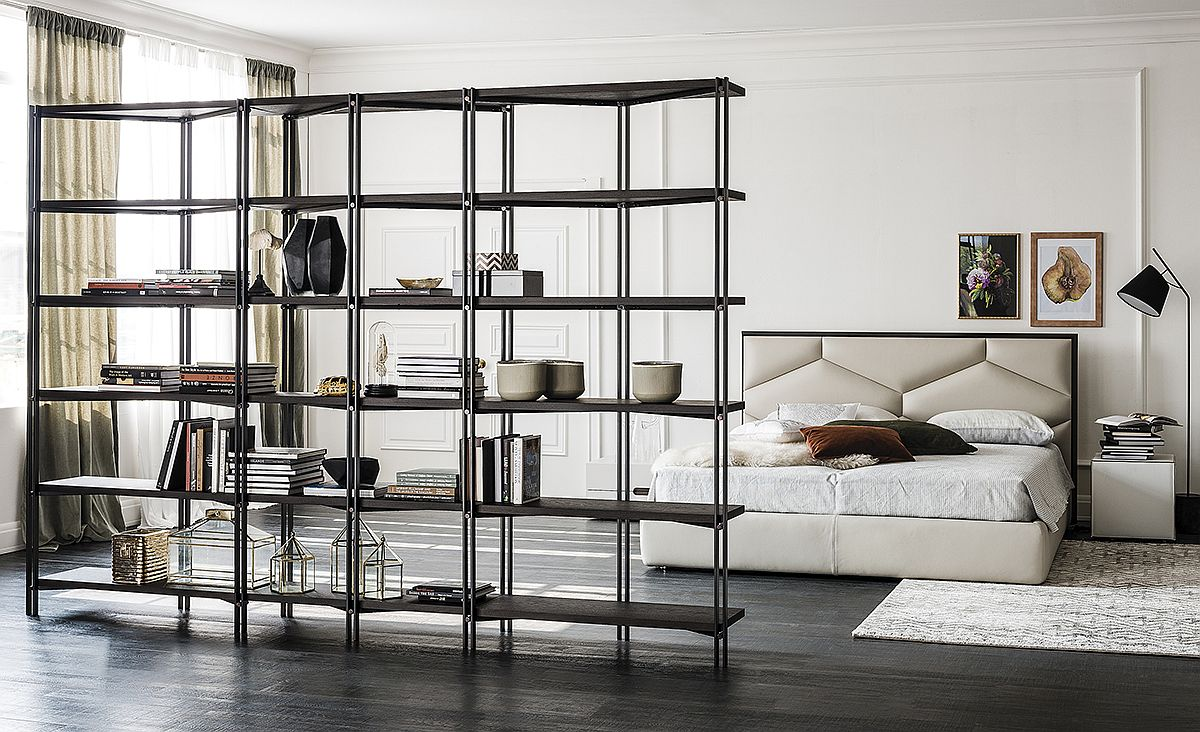 Trendy Hudson bookshelf for modern living space and home offices