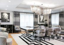 Two diamond dust paintings of Marilyn Monroe bring true Hollywood glam to the art deco dining room 217x155 Harbury Country House Unleashes Art Deco Design Laced with Hollywood Glam