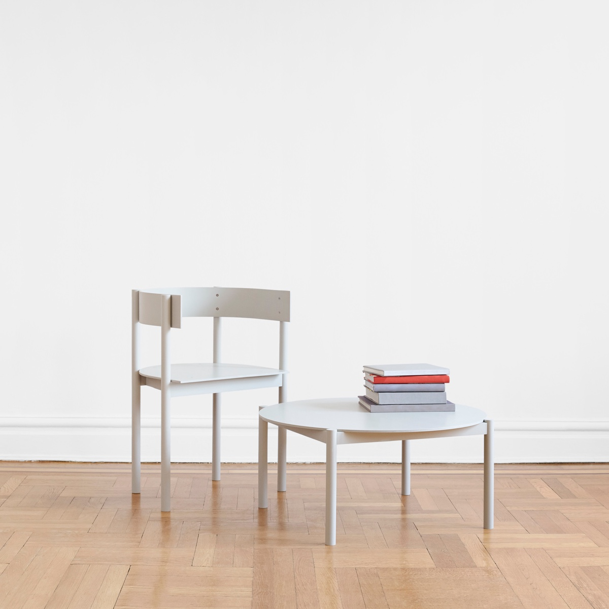 TheTypecast Chair and Coffee Table, insolid maple and birch ply, for Matter Made.Image courtesy ofPhilippe Malouin.