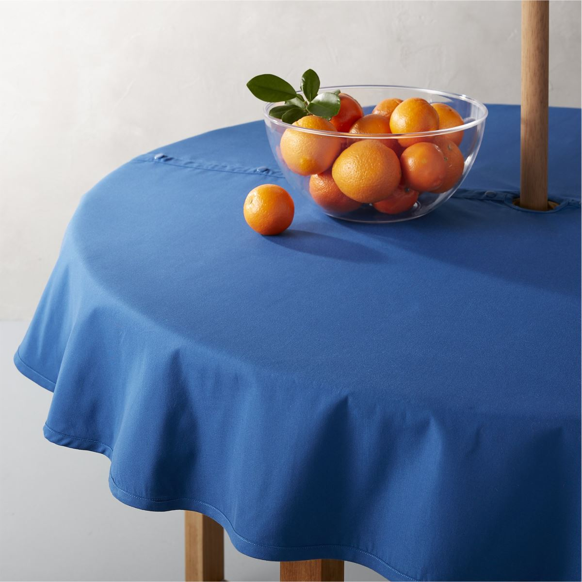 Umbrella tablecloth from Crate & Barrel