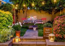 Use lanterns to add aesthetic quality and supplement ambient lighting in the patio