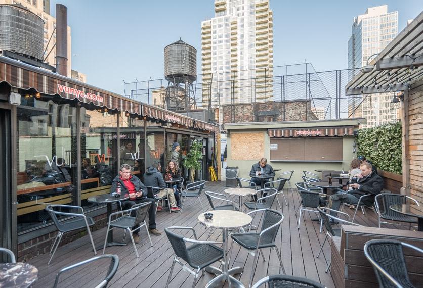 The VU rooftop bar.