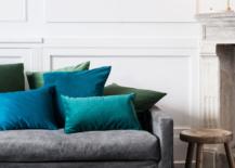 Velvet cushion covers from H&M Home