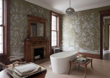 Victorian style wallpaper also serves as a relaxing and elegant personal sanctuary