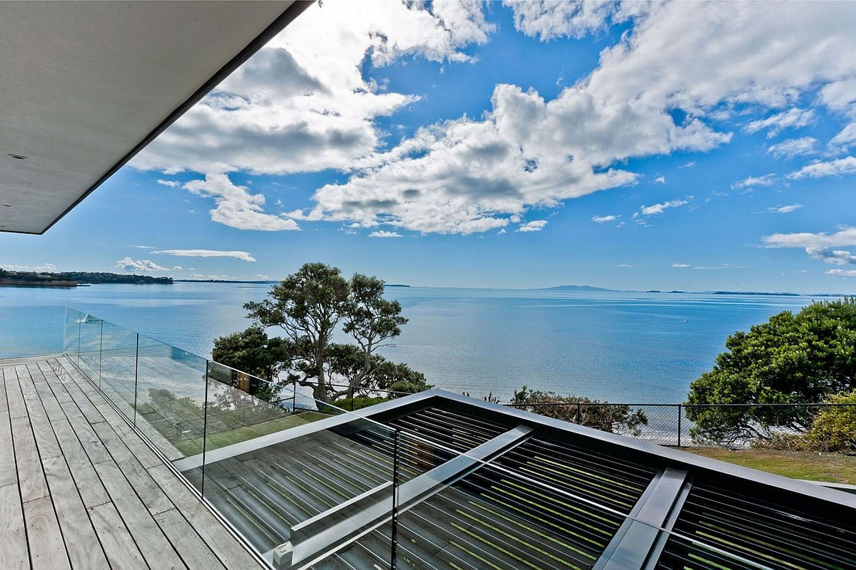 View from the top level deck of the stunning Rothesay Bay House