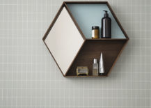 Wall mirror and shelf from ferm LIVING