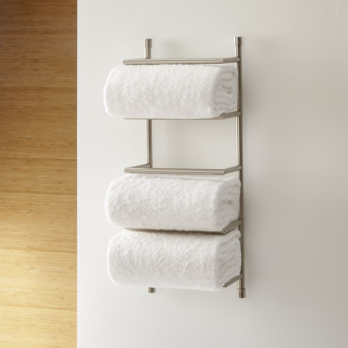 Wall-mounted towel rack from Crate & Barrel
