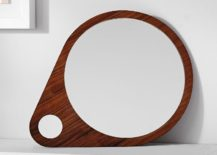 Walnut mirror from West Elm