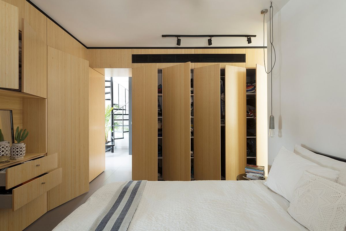 Wide-door closets and drawers inside the master bedroom provide maximum storage