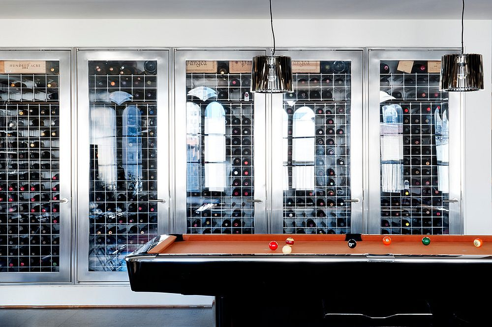 Wine cellar of the TriBeCa Penthouse in New York