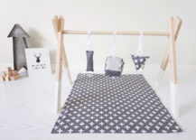 Wooden baby gym from August Lace Designs