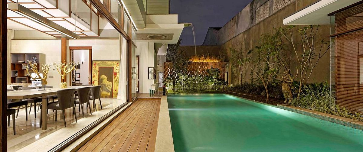 Zen-styled private escape shaped by the pool and natural greenery