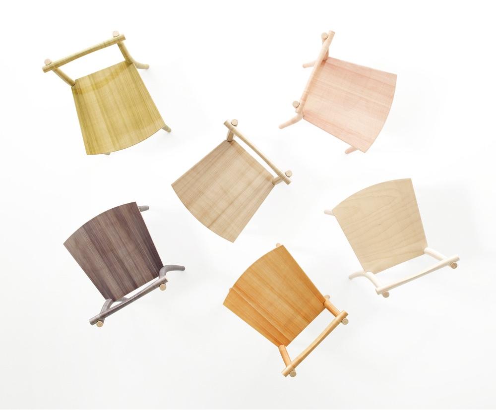 "nendo fishline chair. Part of ""between textures"". Image byHiroshi Iwasaki via Moco Loco."