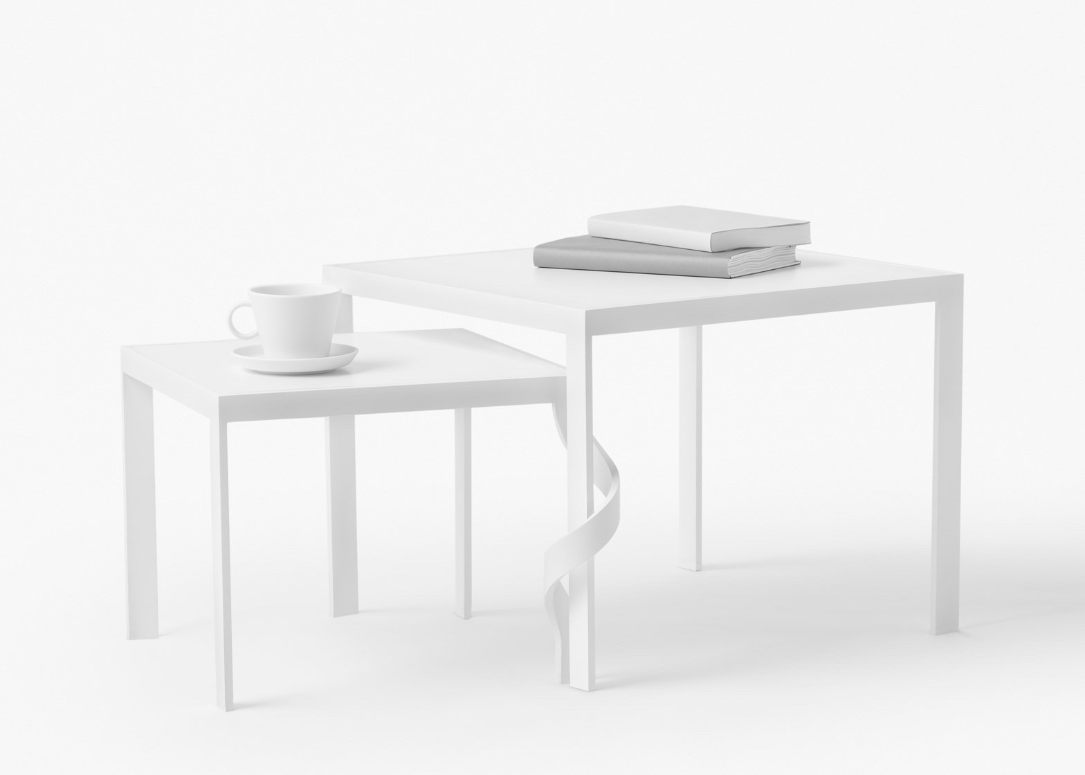 "nendo tangle table. Part of ""between relationships"". Image by Akihito Yoshida via Dezeen."