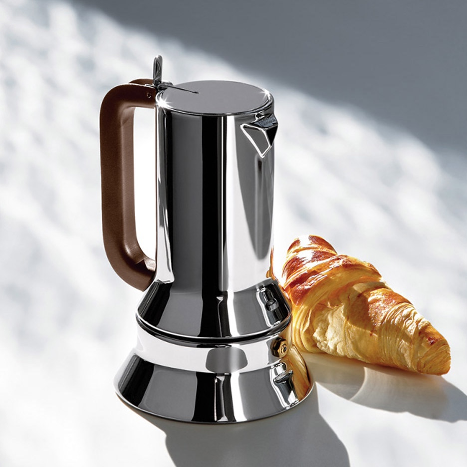 9090 espresso coffee maker (1978) for Alessi. Image via Dezeen.