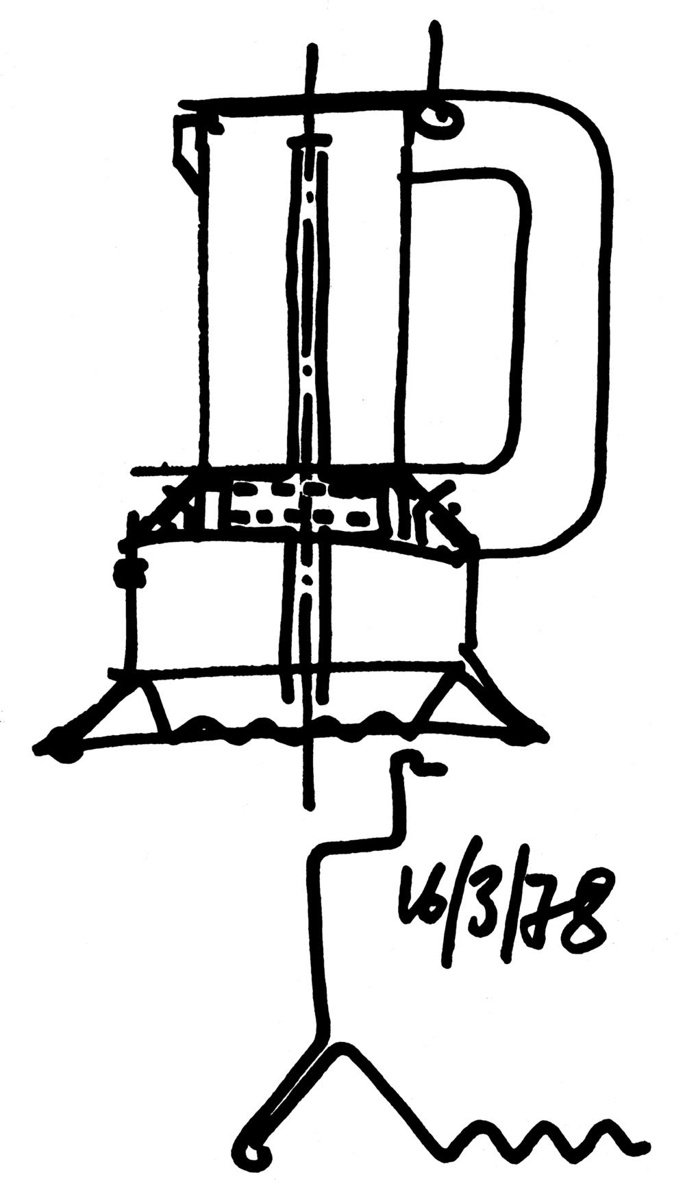 9090 espresso coffee maker sketch. Image via Die Neue Sammlung.