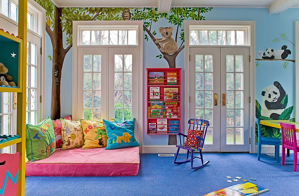 View in gallery A large floor mat and some pillows is all you need to create