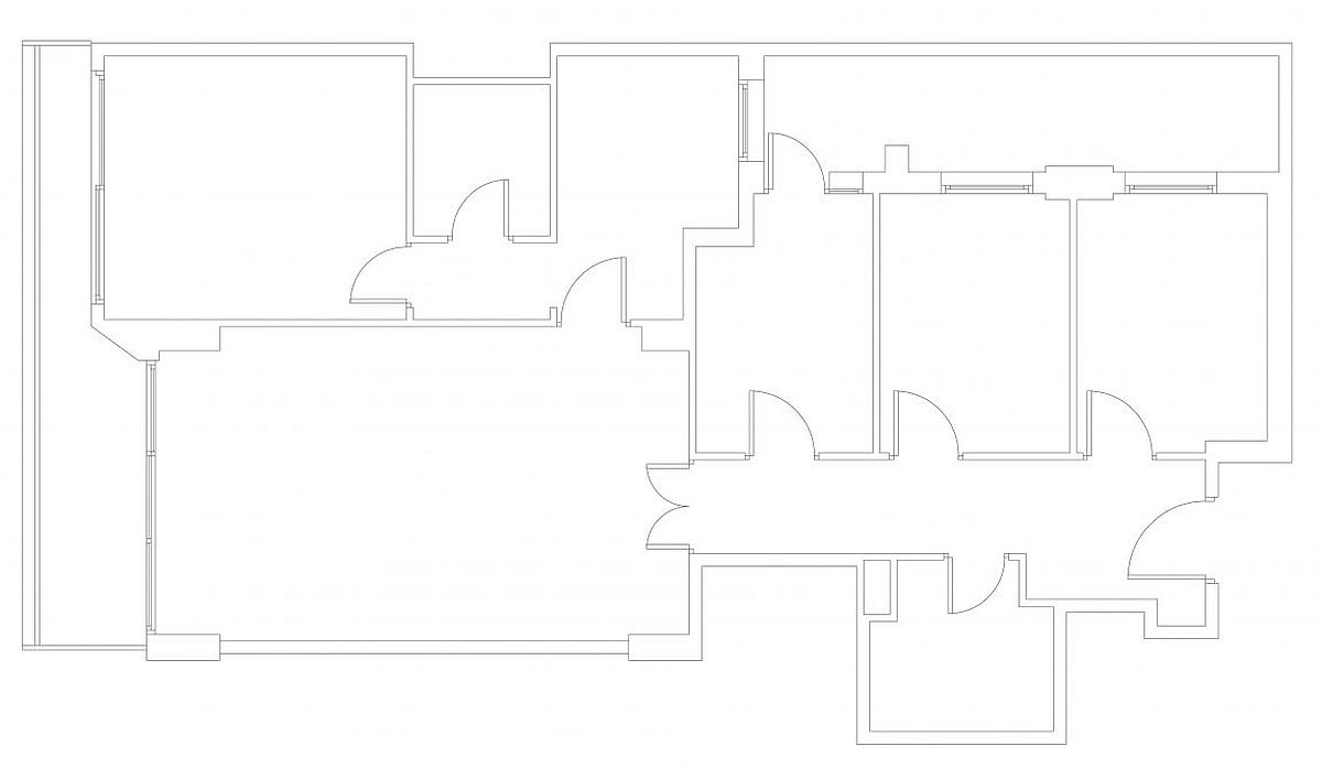 A look at the floor plan of the renovated modern apartment in Les Corts