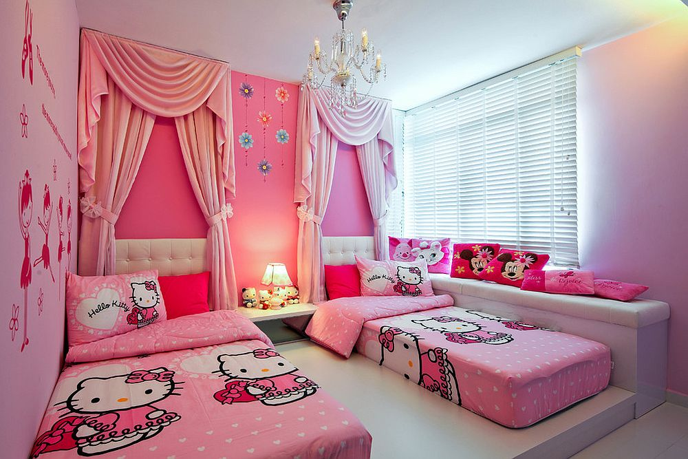 15 hello kitty bedrooms that delight and wow - Deco chambre hello kitty ...