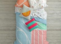 Abstract kids bedding from The Land of Nod 217x155 Fun New Trends for Kids Rooms