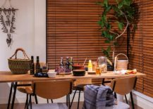 Add natural elements to give Japanese style dining room a more organic appeal