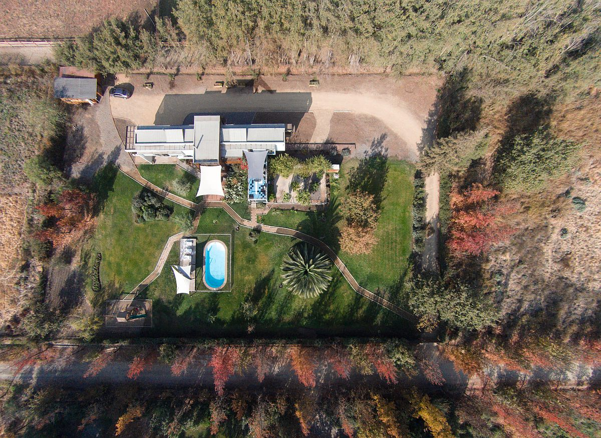 Aerial view of Casa Chicureo