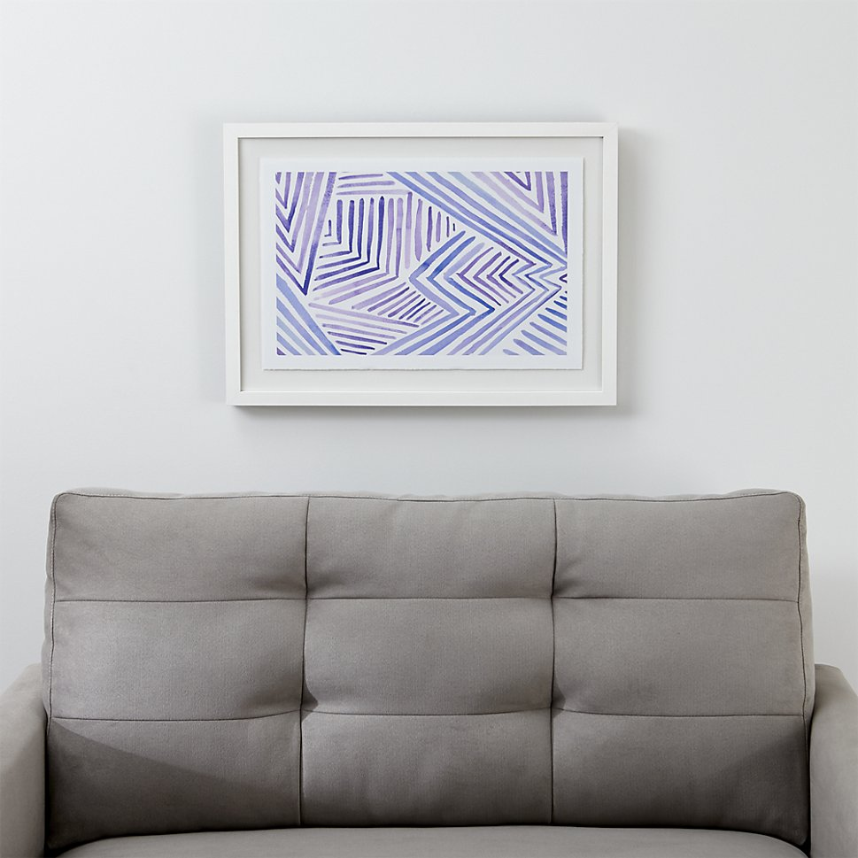 Angular print from Crate & Barrel