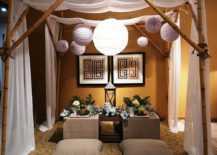 Asian dining room inspired by Eat, Pray, Love!
