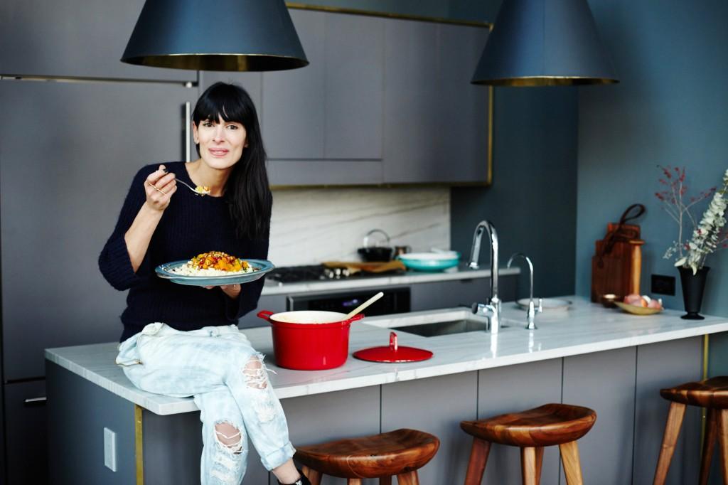 Athena Calderone in her kitchen