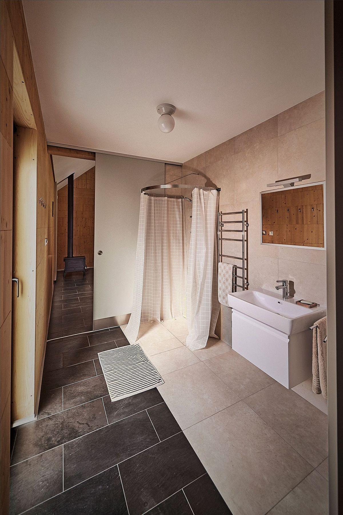 Bathroom and corner shower zone