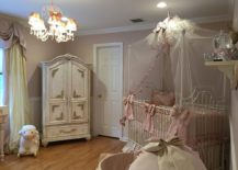 Beautiful shabby chic style nursery with classic French elegance