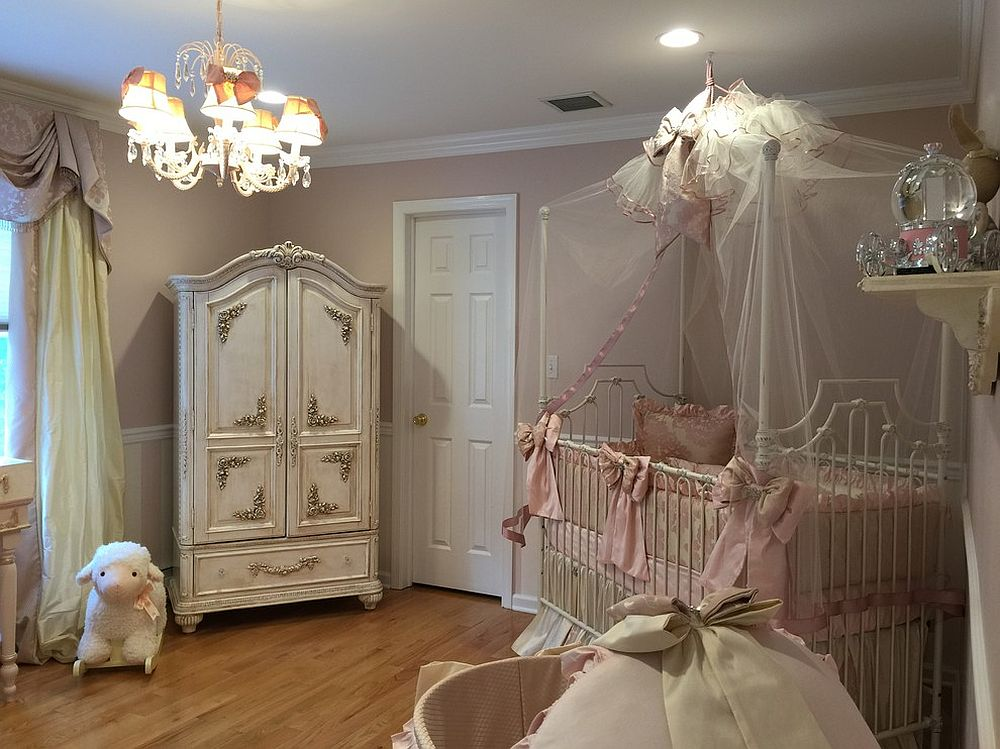 Beautiful shabby chic style nursery with classic French elegance [Design: Interiors by Cassi]