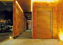 Beautifully lit entrance of the Indonesian home
