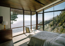 Bedroom with a view and a chair