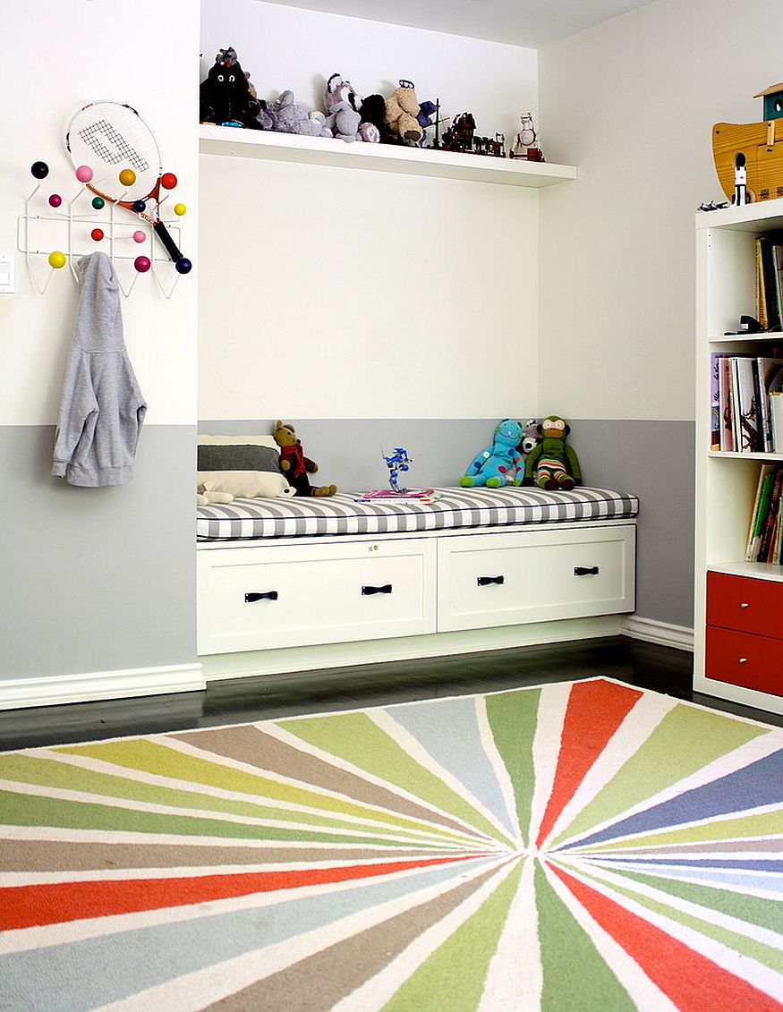 practical ways to make the most of corners in kids room - Kids Room Storage Bench