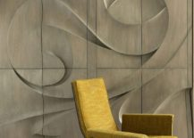 Bespoke millwork gives the interior sculptural style