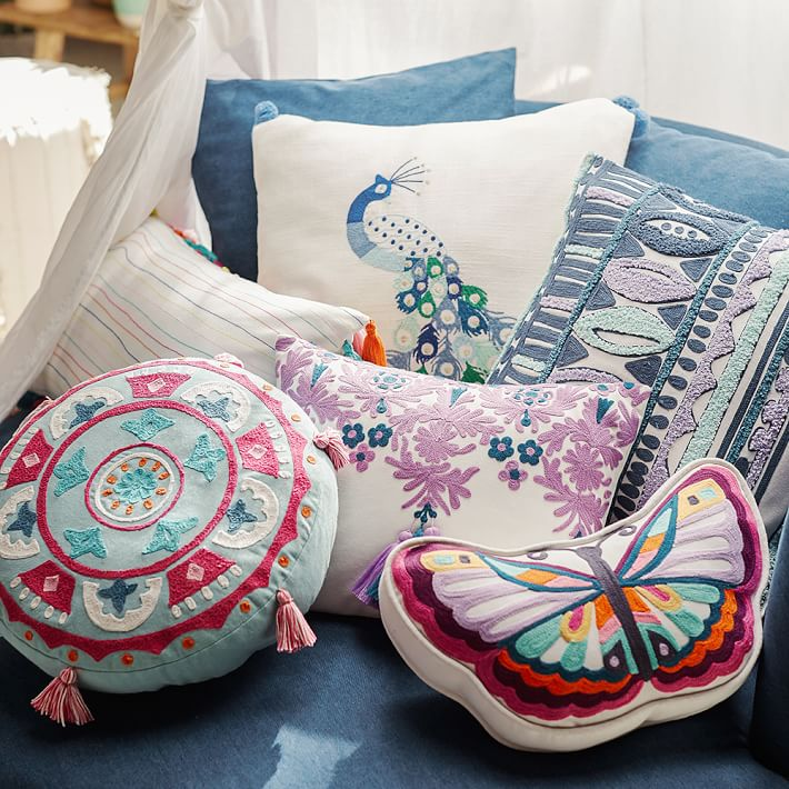 Boho chic pillows from PB Teen