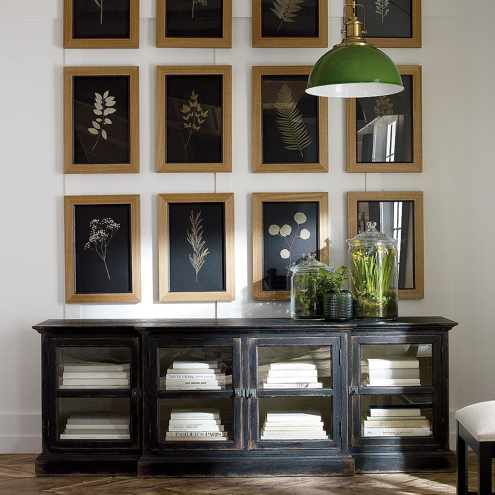 Botanicals on Black IV shapes a fabulous gallery wall [From: Ethan Allen]