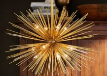 Brass lighting from Pottery Barn