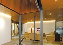 Central void inside the house brings light into the courtyard