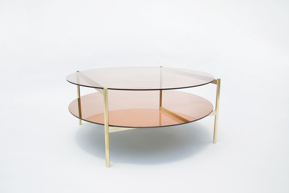 Circular coffee table from Yield