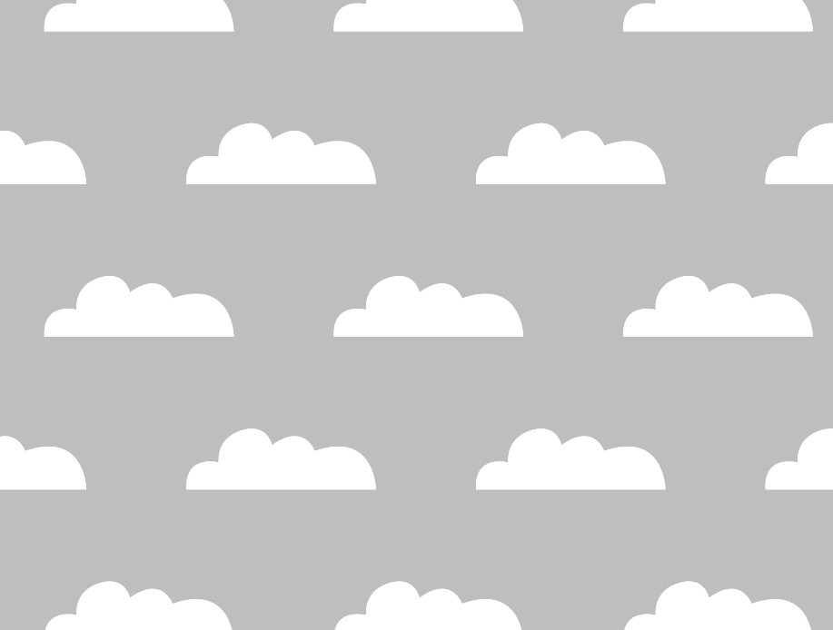 Cloud wall decals from weeDECOR