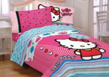 Colorful Hello Kitty bedding