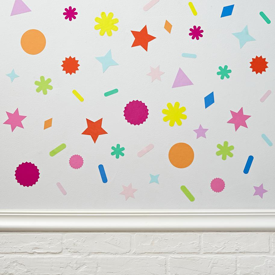 Colorful decals from The Land of Nod