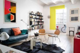 Beautiful Blocks of Color Bring Personality to Smart Barcelona Apartment